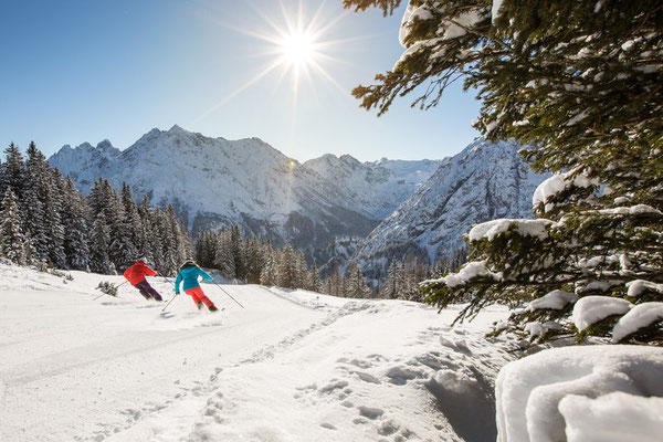 Skifahren in Brandnertal, Vorarlberg