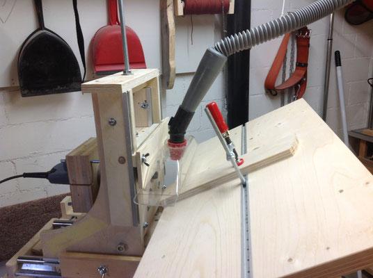 45 Grad Winkel-Schnitt mit Werktisch-Neigung