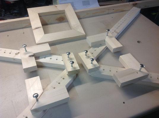 Spannrahmen für das Leimen von Rahmen von 30 bis 100cm