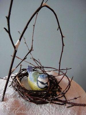 Blaumeise aus Zucker von Floralilie | Sugar Bluetit by Floralilie
