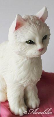 Katze aus Fondant/ Sugar Cat von Floralilie