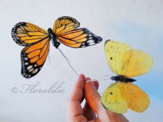 Schmetterling aus Oblatenpapier von Florallilie