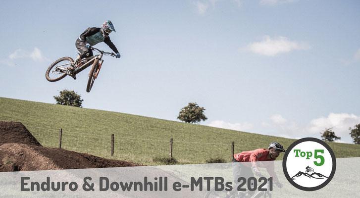 Die besten Downhill und Enduro e-Mountainbikes 2021