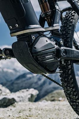 Der neue Shimano EP8 Motor an den Husqvarna e-Mountainbikes