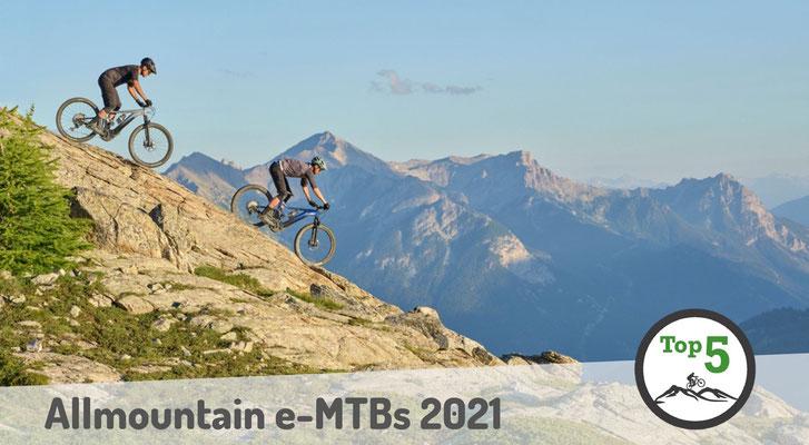 Die besten Allmountain e-Mountainbikes 2021