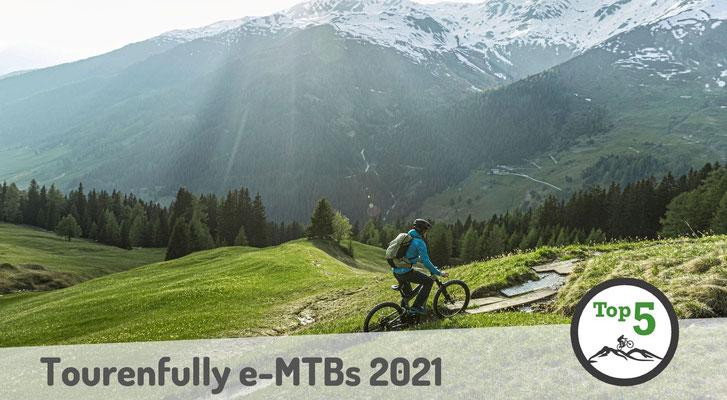 Die besten Tourenfully e-Mountainbikes 2021