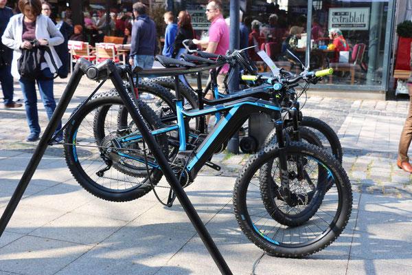 e-Mountainbikes zum Testn, hier das Atom-X von BH Bikes.