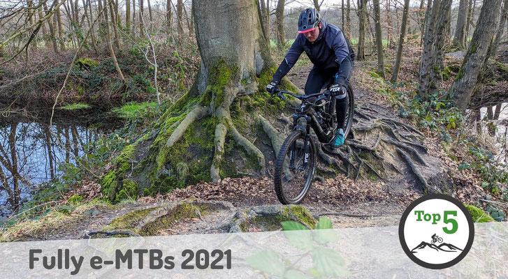 Die besten Fully e-Mountainbikes 2021