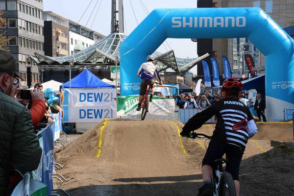 e-Bike Festival Dortmund Test Area für e-MTBs.
