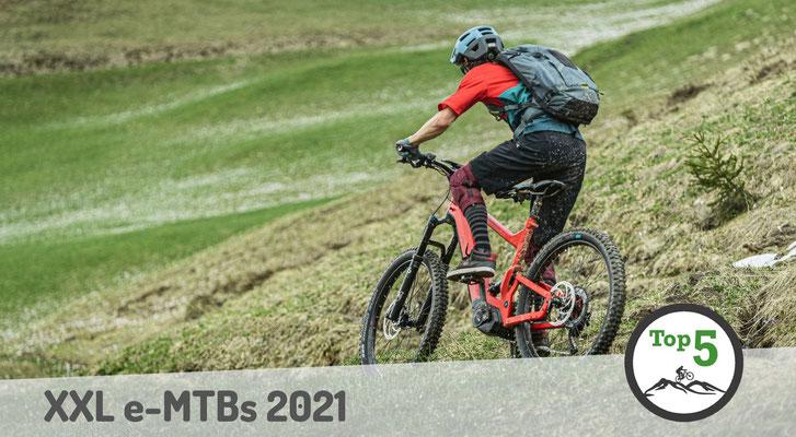 Die besten XXL e-Mountainbikes 2021