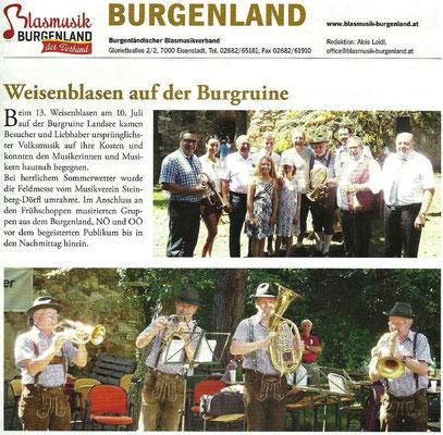 Fachmagazin des österr. Blasmusikverbandes / Ausgabe 9 - September 2016