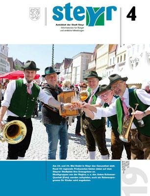Amtsblatt der Stadt Steyr im April 2019