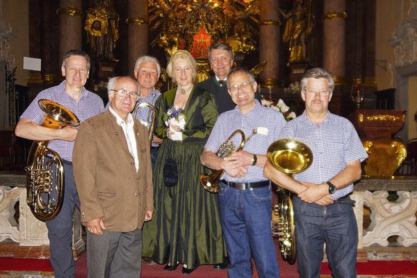 ASQ mit Klaus und Christine Huber sowie Organist Robert Schöffl