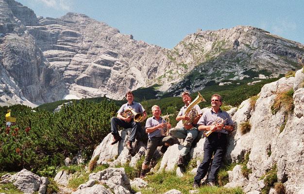 2006 auf der Hesshütte im Gesäuse - do wor´n ma noch jung!