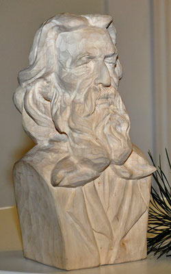 Franz Stelzhamer - Holzskulptur