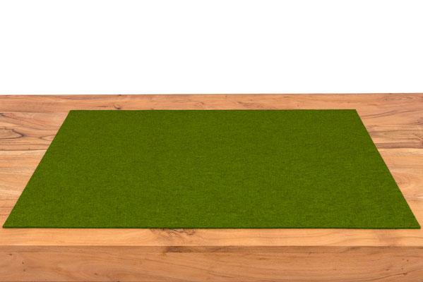 Rob&Raf Designer Schreibunterlage aus Polyester Filz in Melange Grün auf Schreibtisch