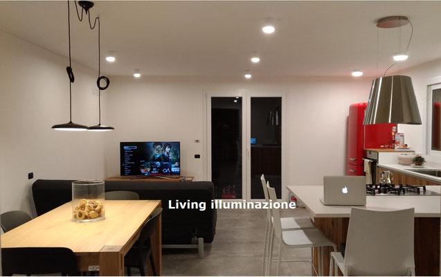 Progetto luce Riccione: Soggiorno con due sospensioni deviate + ...