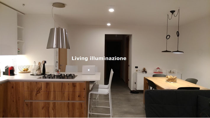 Progetto luce riccione illuminazione cucina lampadario