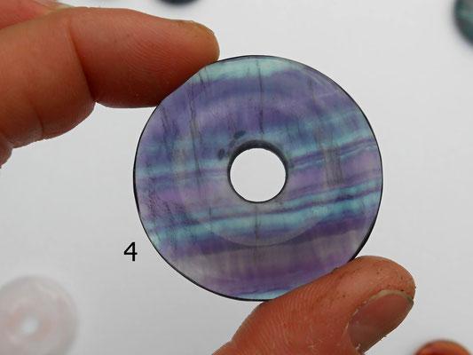 4: Fluorit Donut 40mm Nahaufnahme