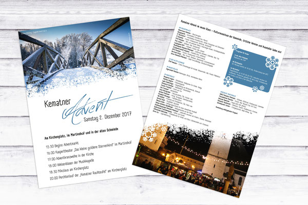 Flyer Adventmarkt – Gemeinde Kematen an der Krems