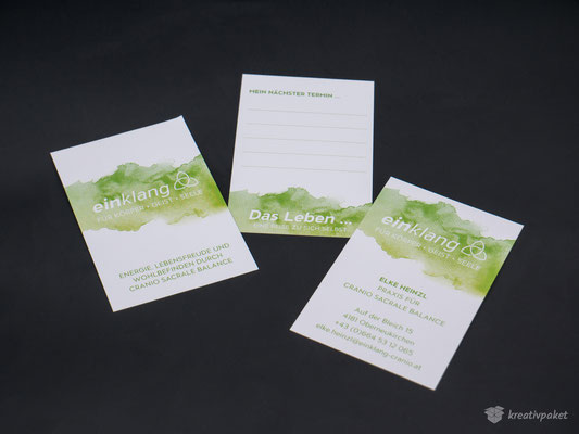 Terminkarten, Visitenkarten – einklang Elke Heinzl