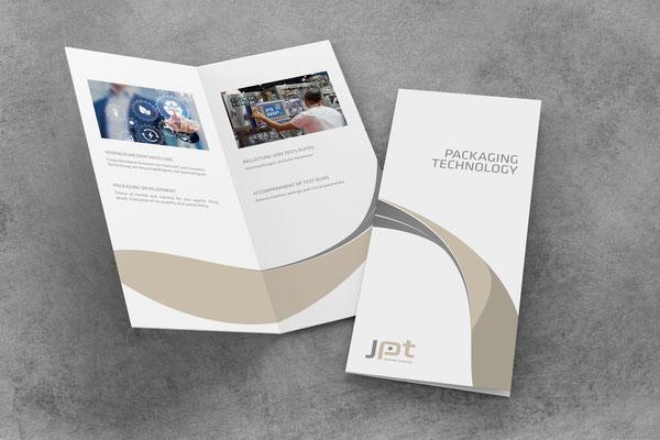 JPT Packaging Technology - Logo- und Imagefoldergestaltung