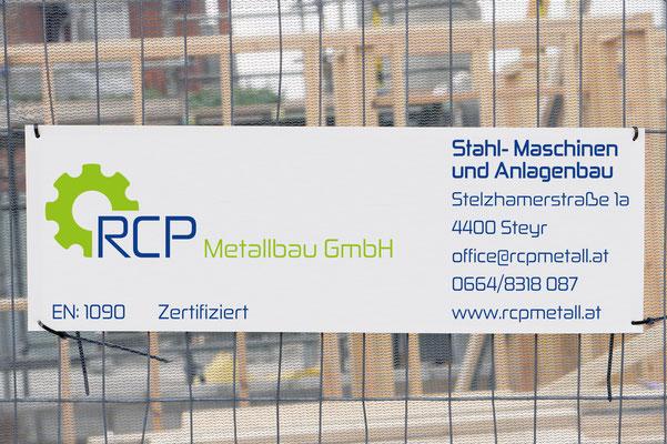 Baustellentafel – RCP Metallbau GmbH