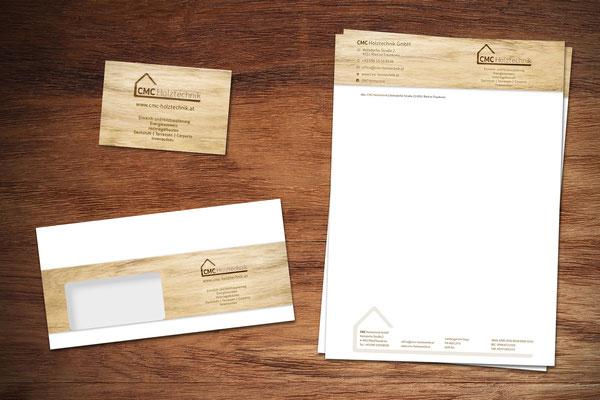 Geschäftsdrucksorten, Kuverts, Visitenkarten – CMC Holztechnik GmbH