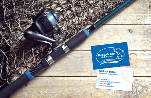 Visitenkarten – Fischzucht Haas