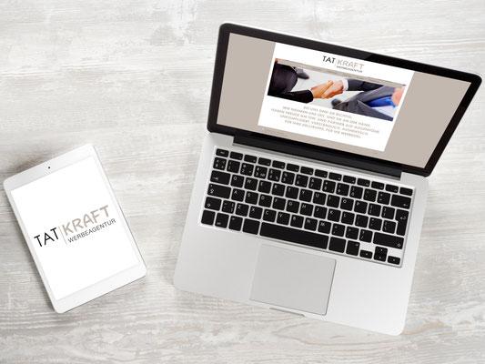Logo, Webseite – Tatkraft Werbung GmbH