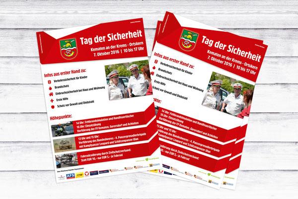 Flyer Tag der Sicherheit – Gemeinde Kematen an der Krems