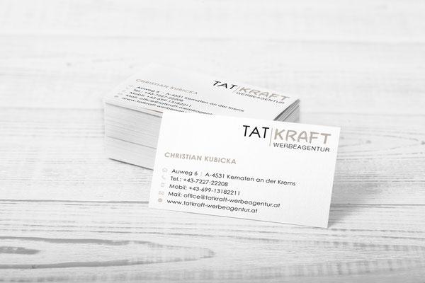 Visitenkarten – Tatkraft Werbung GmbH