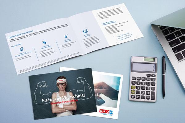"""WKO Oberösterreich - Bewerbungs-Folder """"Gewerbe-Finanzcheck"""""""