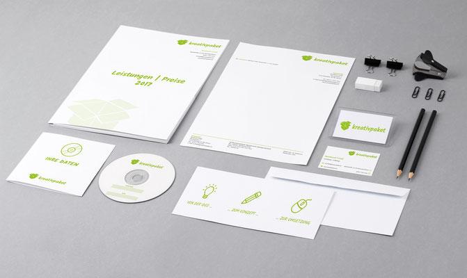 Logo, Geschäftsdrucksorten, Visitenkarten – kreativpaket