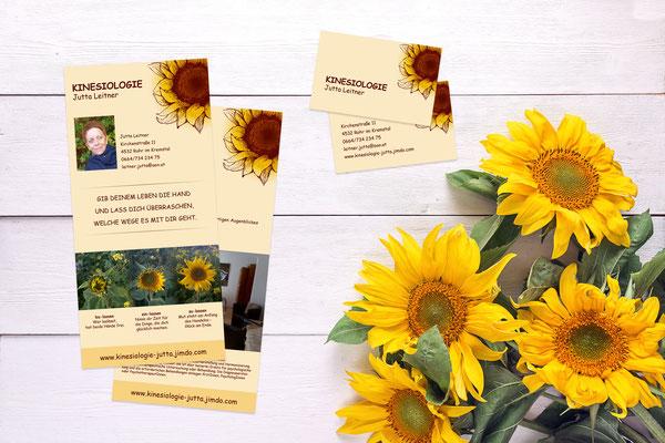 Visitenkarten, Flyer – Kinesiologie Jutta Leitner
