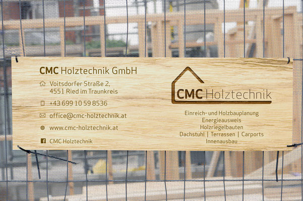 Baustellentafel – CMC Holztechnik GmbH