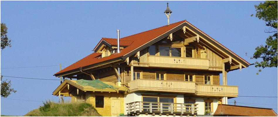 Fassade beim Hausbau