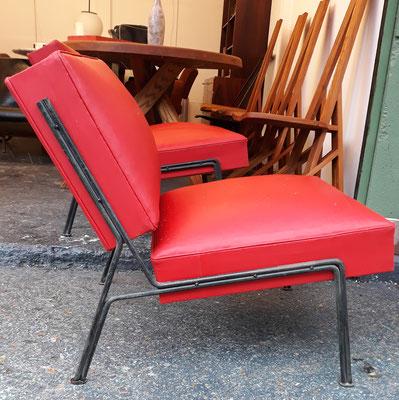 A.R.P (Guariche, Mortier, Motte), paire de fauteuils G2, c. 1955