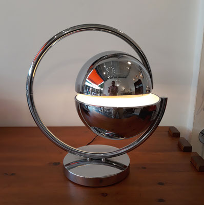 Pierre Folie,  rare lampe Astrolabe pour Charpentier, c. 1970