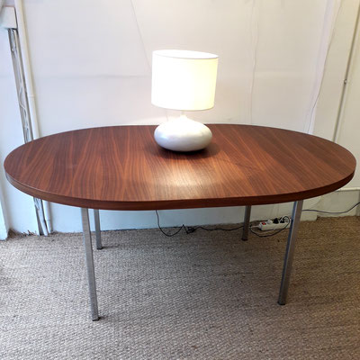 Georges Frydman, table ovale en acjou, c. 1960