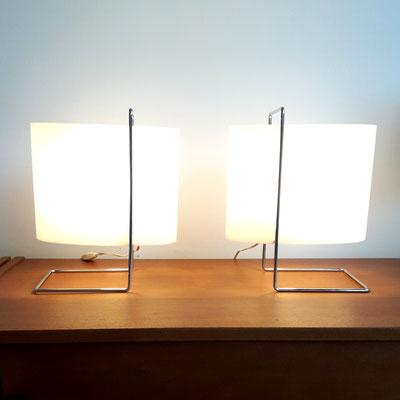 Roger Fatus, paire de lampes 1021 pour Disderot, c. 1960