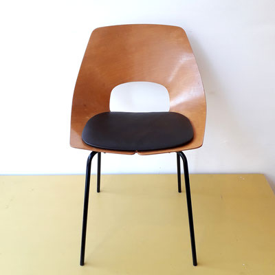 Pierre Guariche, chaise Tonneau pour Steiner, c. 1954