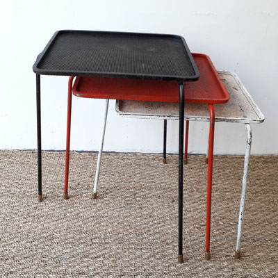 Mathieu Matégot, 3 tables gigognes Soumba, c. 1953
