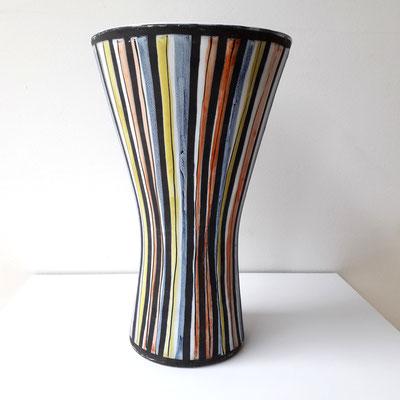 Roger Capron, vase cornet décor pyjama, c. 1955