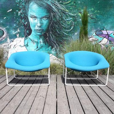 Olivier Mourgue, paire de fauteuils Cubique, c. 1968