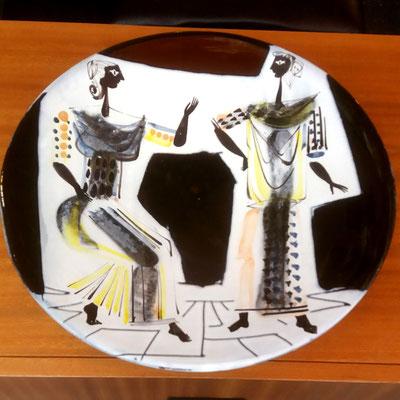 Roger Capron, grand plat en céramique, c. 1955