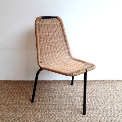 R. Picot, chaise en rotin et métal, fabriquée par Airborne, distribuée par Tubauto, c. 1953