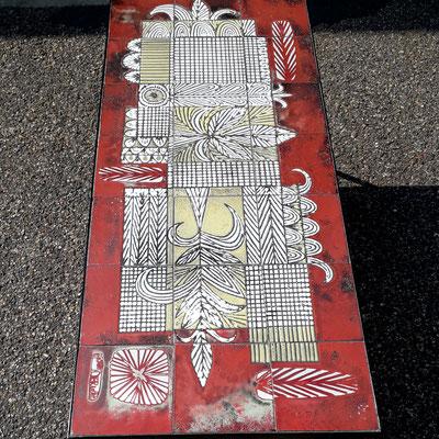 Jean Derval, rare table basse en céramique, c. 1965