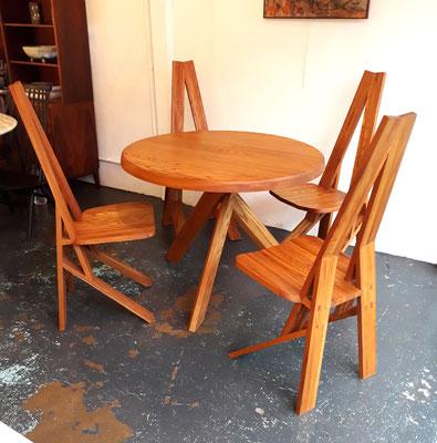 Pierre Chapo, table T21A et 4 chaises S42, c. 1980