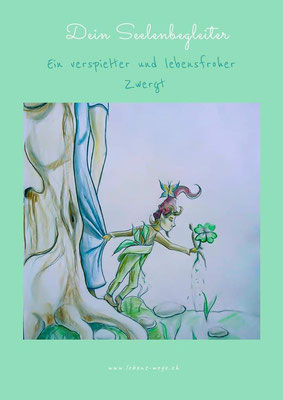 Bild & Botschaft Seelenbegleiter (Bleistiftskizze mit Farbakzenten)CHF 80